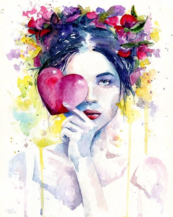 cora and tiana watercolor