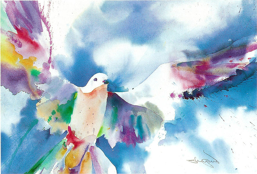 dove of peace watercolor